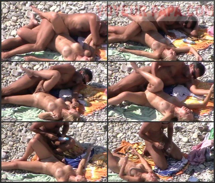 Voyeur public beach sex couple
