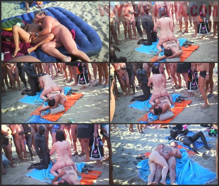 Nude Beach – Hot Exhibitionists Public Orgy