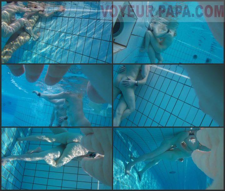 Underwater voyeur in sauna pool 2