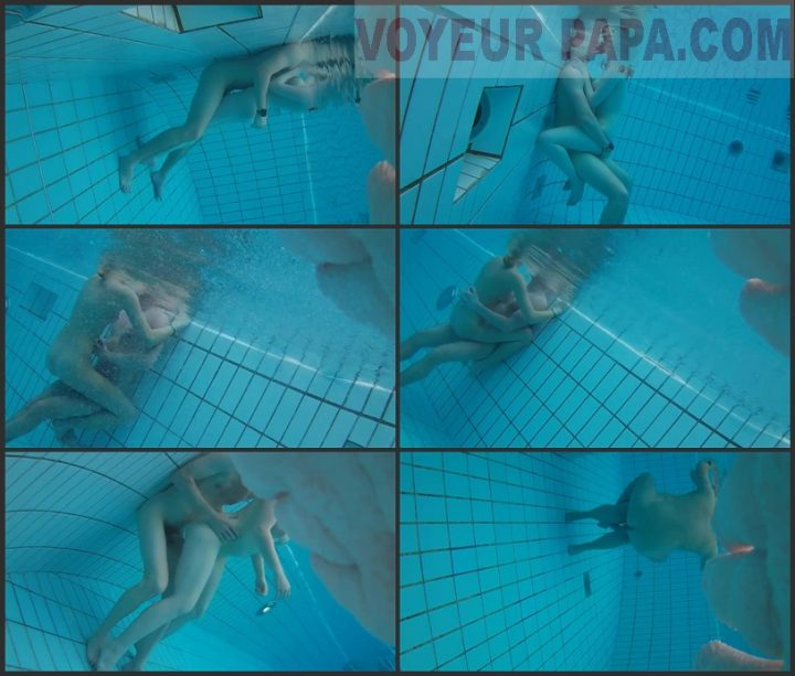 Underwater voyeur in sauna pool 4