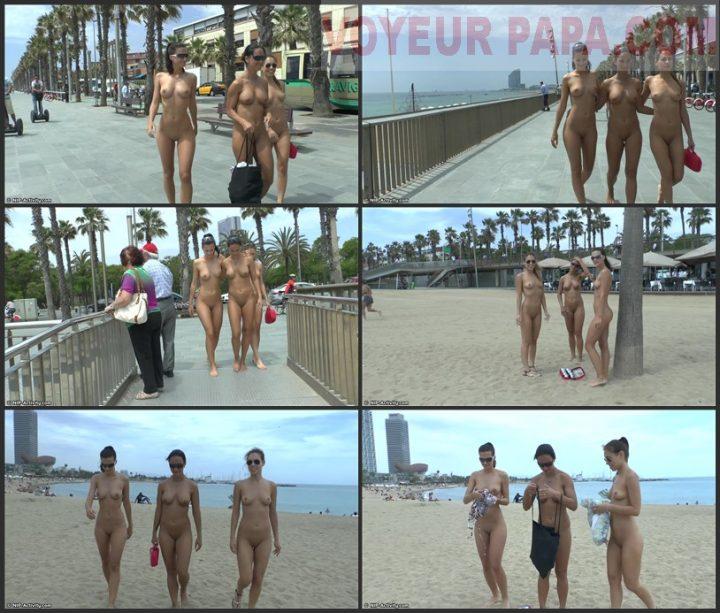 3 Girls Beach Nude