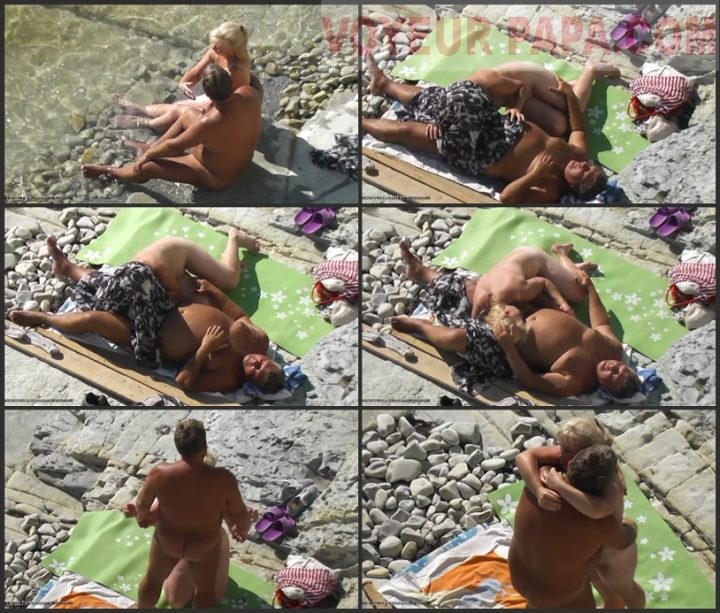 Risky Public Blowjob on the Beach