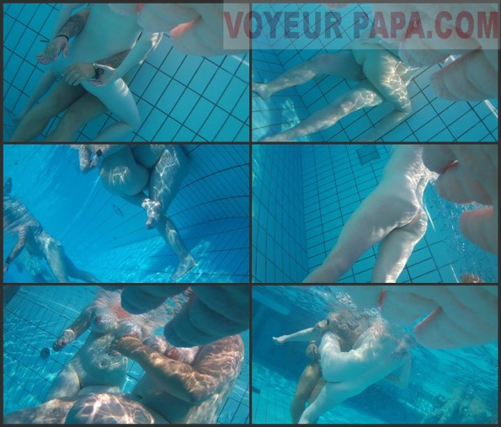 Underwater voyeur in sauna pool 9