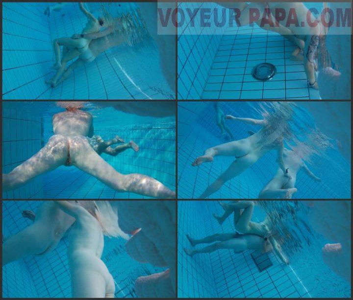 Underwater voyeur in sauna pool 11